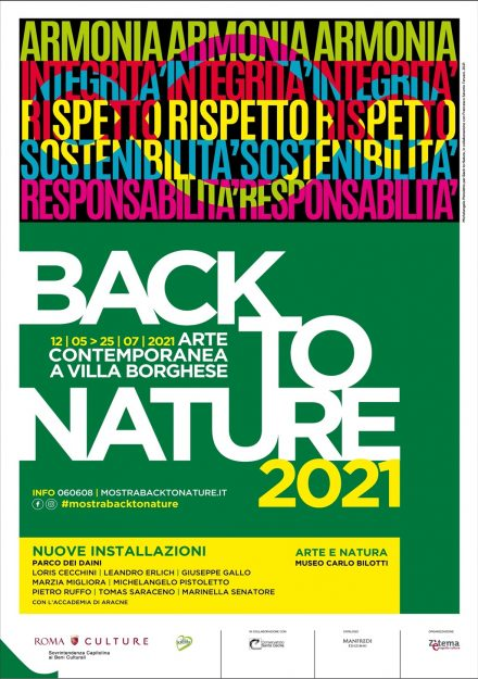locandina Villa Borghese Back To Nature 2021