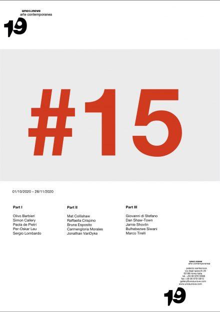 1/9unosunove - #15 locandina mostra