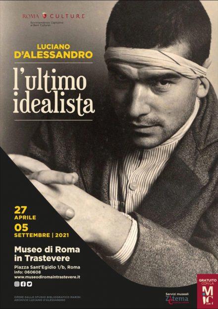 locandina mostra Luciano D'Alessandro L'ultimo idealista