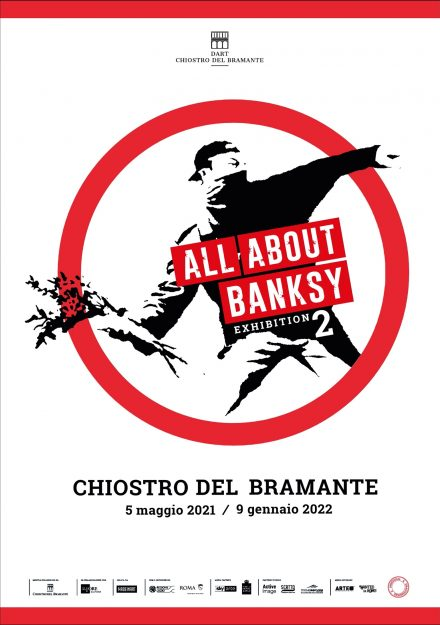 locandina Chiostro del Bramante - All About Banksy