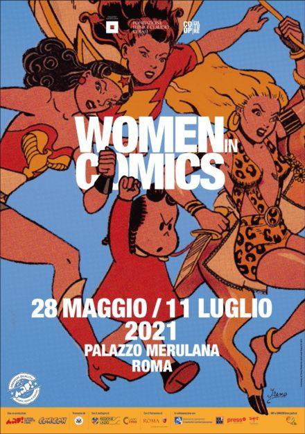 locandina Palazzo Merulana - Women in Comics